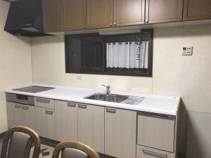 新しくなったキッチン下台