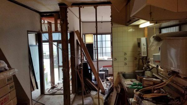 全面改装キッチン周りビフォア