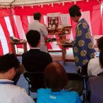 香里東之町分譲地の地鎮祭②