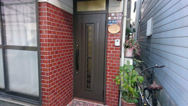 玄関ドアアフター