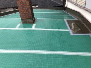 屋根上張り工程