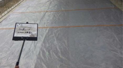 土間、防湿シート敷状況