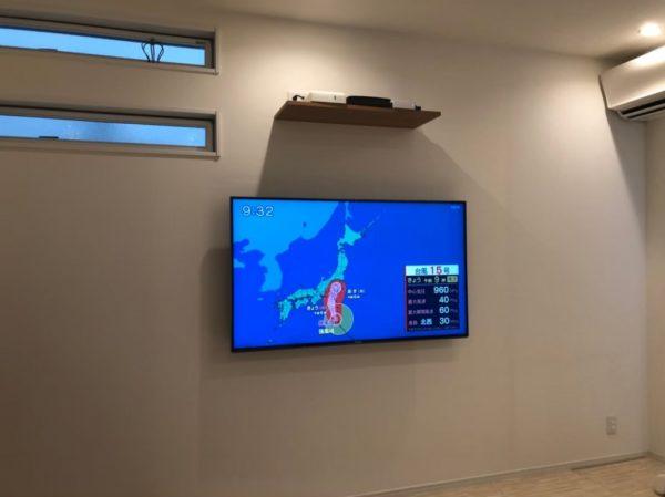 M様邸壁掛けテレビ アフター